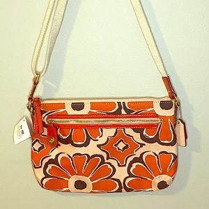 Coach Floral Swingpack Crossbody Bag -NWT